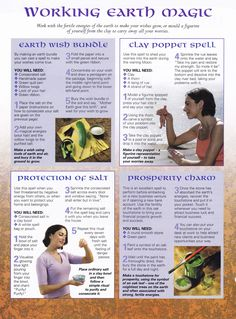 Book of Shadows:  #BOS Working Earth Magic page.