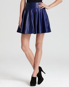 Milly - Leather Skirt Delphine Swirl - $495.00 - Click on the image to shop now