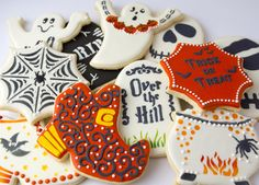 Halloween Stenciled Cookies | Cookie Connection