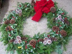 Pinecone Wreaths at Hamilton Farms in Boonton Twp, NJ