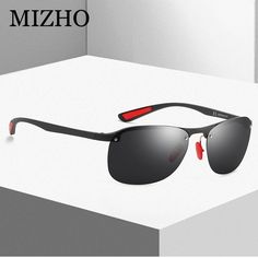 31bc8eef55 MIZHO BRAND DESIGN Classic Polarized Sunglasses Men TR90 Rimless Frame Sun Glasses  Women Driving Goggles UV400