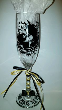 Batman and Catwoman Wedding glasses by CarGraphics on Etsy