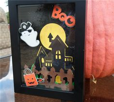 Project Center - Halloween Shadow Box. Add a little personality and fun to your Halloween decor this year with this adorable 3D shadow box. Cricut Cartridges used: Paper Doll Dress Up, Create a Critter, Happy Hauntings, Create a Critter 2. #Cricut