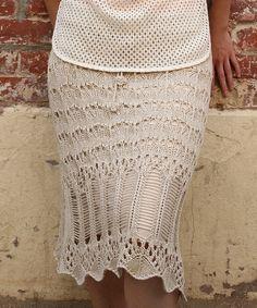 Nick & Mo Tan Crochet Rosebud Column Skirt | zulily