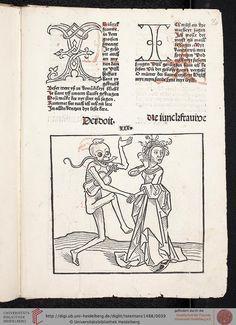 Heidelberger Totentanz (Heidelberg: Heinrich Knoblochtzer, nicht nach 1488 [GW M47257])