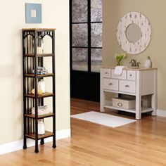 Modern Craftsman Oak and Brown Six Tier Tower
