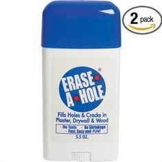 THIS PRODUCT MAKES A GREAT STOCKING STUFFER !!!!  Erase-a-hole Acoustic Ceiling and Wall Putty 5.5 0z - Wall Surface Repair Products - Amazon.com
