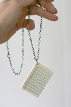 Lined Page Ceramic Necklace by MangoTreeCeramics on Etsy *