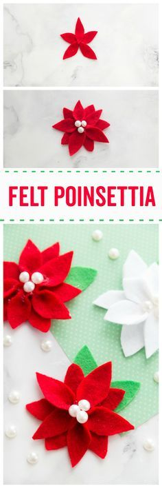 Felt Poinsettia Felt Crafts Christmas Fun Holiday Crafts Holiday Crafts