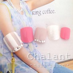 ♡5月限定フットキャンペーン♡ #chalant#シャラン#吉祥寺#ネイルサロン#nail#nails#art#gel#ネイル#ジェル#吉祥寺ネイルサロン#キャンペーン#ストライプ#ホワイト#ピンク#グレージュ#初夏ネイル#フット#foot#フットジェル