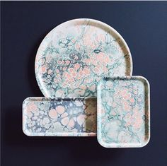 studio formata's beautiful marbleized trays | style source on coco kelley