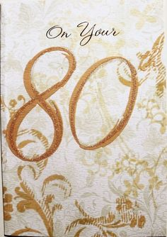 On your 80th Birthday card, suitable for male or female, flowers theme brand new #Busquets #80thBirthdaymaleorfemale
