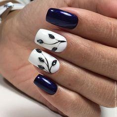Мои закладки unhas artísticas, unhas de gel, cuidado de las uñas, diseños d Nail Designs Spring, Nail Art Designs, Nails Design, Nagellack Trends, Flower Nails, Creative Nails, Blue Nails, Gorgeous Nails, Nail Trends