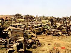 Eritrea's War of Independence Tank Graveyard - In Asmara -an important city of Eritrea- a huge graveyard of wrecked military tanks, armoured vehicles and other relics of war, captured by the Eritreans or left behind by the Dergue from Ethiopia while evacuating Eritrea.