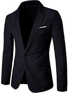 5614df03e WS668 Homme Classique One-Button Mince Blazer Vest Slim Fit Coton Casual  Tops Veste de Costume Outwear Mens Suit Jacket (XX-Large, Gris foncé):  Amazon.fr: ...