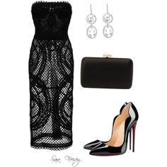 Untitled #35 by sara-elizabeth-feesey on Polyvore featuring polyvore, fashion, style, Dolce&Gabbana, Christian Louboutin, Prada and Andrea Fohrman