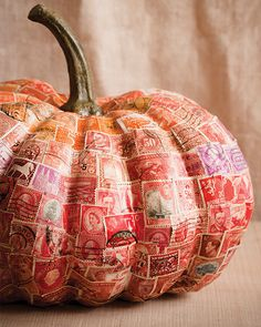 Vintage Stamp Pumpkin -  #sweetpaul #halloween #Pumpkin