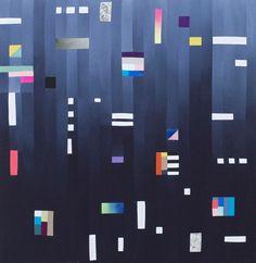 Kunstpakhuset - Geometric tapestry created for a recent show at Kunstpakhuset in Ikast, Denmark. :: Hvass & Hannibal
