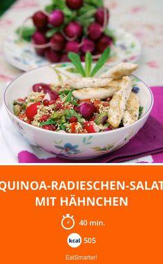 Eine Portione Frühling bitte! Quinoa-Radieschen-Salat mit Hähnchen | Kalorien: 505 Kcal - Zeit: 40 Min. | eatsmarter.de