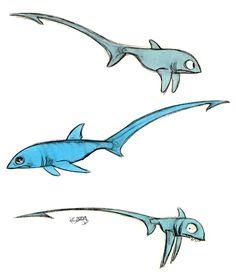 Thresher sharks by ~Polarkeet on deviantART