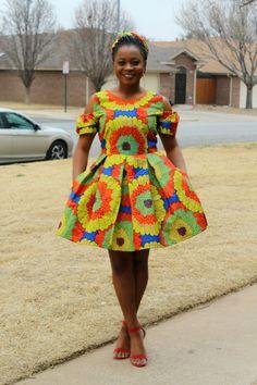Adensecret Tomisin African Print Ankara Mini Dress