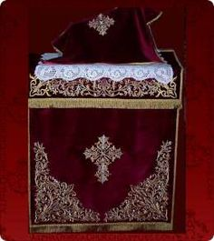 A complete source for all your liturgical and eclessiastical needs. Altar Cloth, Quilting Projects, Cross Stitch, Quilts, Embroidery, Ornaments, Crochet, Pattern, How To Make