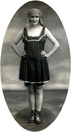 Womens bathing suit circa 1920