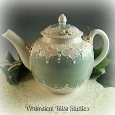 Whimsical Bliss Studios - Spring Blossoms Teapot