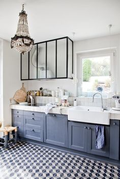 Small Bathroom Storage 574842339935840142 - Une cuisine bleu-gris Source by dessinemoiunecuisine Small Bathroom Renovations, Small Bathroom Storage, Ikea Bathroom, Home Remodeling, Bathroom Cabinets, Scandinavian Kitchen, Home Staging, Decorating Your Home, Home Furnishings