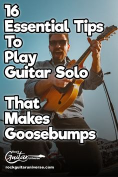Want to play awesome guitar solos that will make your audience goosebumps? Then check these 16 essential tips that will leave your audience speechless Guitar Classes, Guitar Chords For Songs, Guitar Solo, Guitar Tips, Music Guitar, Cool Guitar, Guitar Lessons, Playing Guitar, Guitar Notes