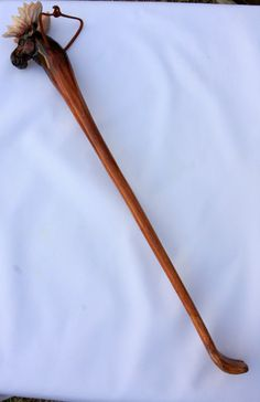 Back Scratcher by on Etsy Back Scratcher, I Got Your Back, Walking Sticks And Canes, Shoe Horn, Wood Crafts, Wood Projects, Garden Tools, Best Gifts, Crafting