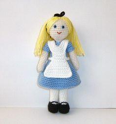Alice in Wonderland Amigurumi Chrochet Doll by naryatoys on Etsy, $30.00