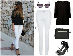 Fashion Fade Magazine : 1, 2, 3... Effortlessly Chic White Skinny Jean Looks