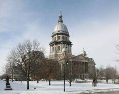 Illinois State Capitol: Springfield. Built 1884-1887. Architectural Style: Renaissance Revival.