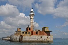 The Portland Breakwater lighthouse, Dorset.