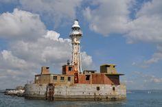 The Portland Breakwater lighthouse, Dorset.