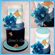 Ice Blue Wedding Cake.  - Cake by Lotties Cakes & Slices