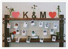 Image result for hanging polaroid display wedding