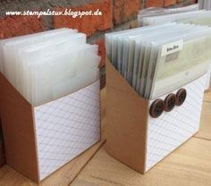 Stempelstuv: Anleitung für die Boxen
