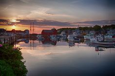 Rockport harbor at dawn on a warm morning in early May. You should always try to catch the dawn and the sunset if possible as it makes the whole day worthwhile.