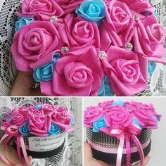 #virágfalu #habrózsa #virágdoboz #rózsadoboz #rózsabox #polifoam #csajos #pink #csillámos #strasszos #babakék #rózsaszín #egyedi #szülinapi #ballagási #ajándék Icing
