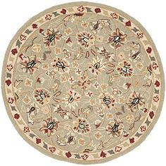 Safavieh Chelsea Collection HK78D HandHooked Sage and Ivory Premium Wool Round Area Rug 3 Diameter >>> See this great product.