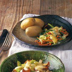 Gemüse-Julienne mit Nusskäse