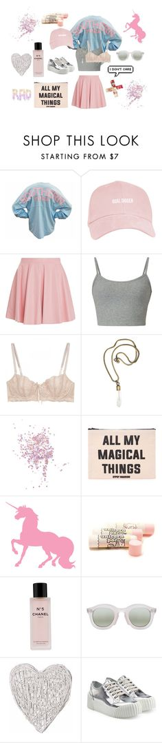 """""""CRYBABY"""" by dars78 ❤ liked on Polyvore featuring Drome, Elle Macpherson Intimates, by Sylvie Markovina, Topshop, Forever 21, Chanel, CC, Marc by Marc Jacobs, women's clothing and women"""