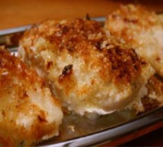 Delicious Potato Crusted Chicken Breast. This recipe is incredibly moist and surprisingly flavorful ...