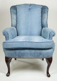 reupholster chair denim - Google Search