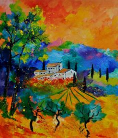 Provence 6741, painting by artist ledent pol