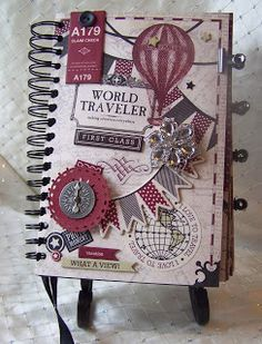 "Carta Bella ""Well Traveled"" Vintage  Travel Journal.  To journal for your faith try www.journaling4faith.com."