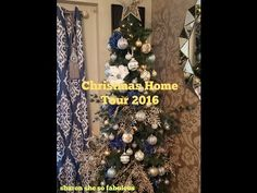 Christmas Home Tour 2016: And Christmas Tree and Greetings - YouTube