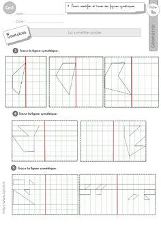 cm1: Exercices la SYMETRIE AXIALE figures symétriques